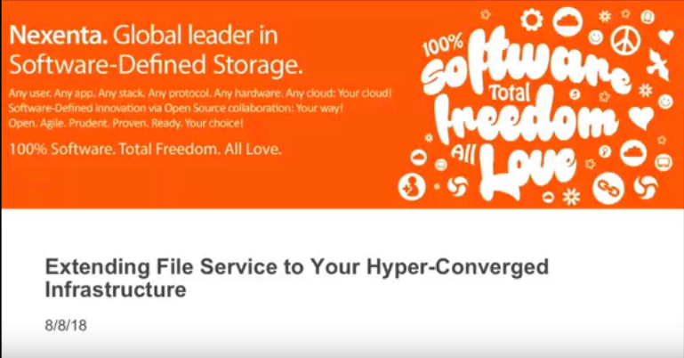 Extending File Services to Your Hyper-converged Infrastructure Webinar